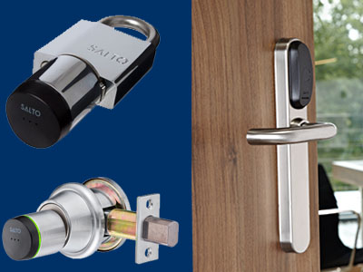 Salto Locks and Card Readers Showcase for SALTO access control system - padlock, cylinder, standard
